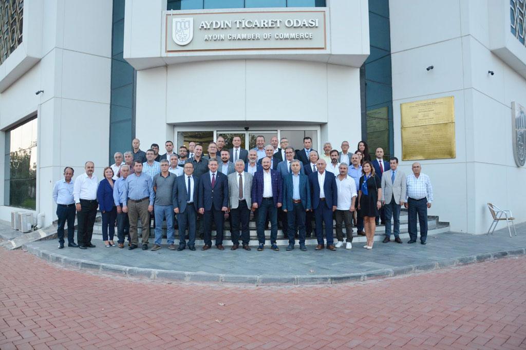 Aydın Oda Ve Borsalar Güçbirliği Toplantısı Aydın Ticaret Odası Evsahipliğinde Yapıldı