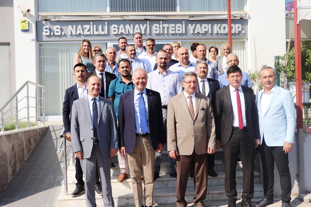 İyi Parti Aydın Milletvekili A. Adnan Sezgin Yeni Sanayi Sitesi Yapı Koop. Hayırlı Olsun Ziyareti