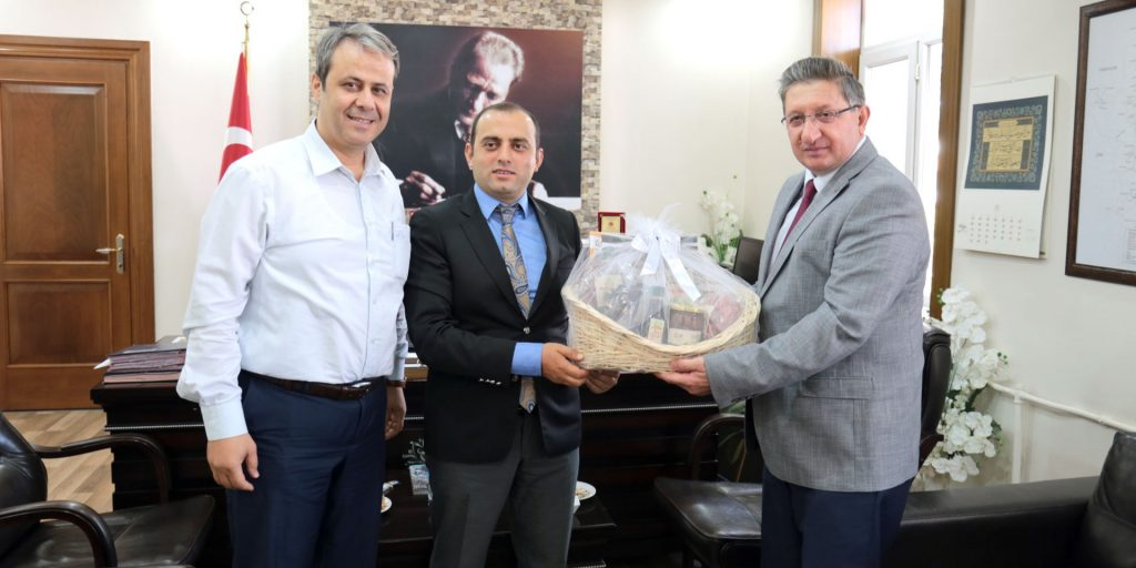 Başkan Arslan'dan Yeni Atanan Bozdoğan Kaymakamına Ziyaret