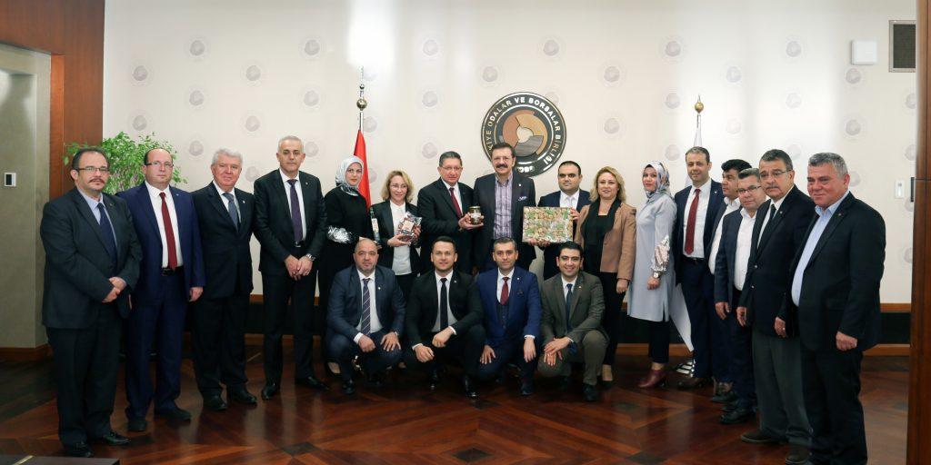 Odamızdan TOBB Başkanı Hisarcıklıoğlu'na Ziyaret