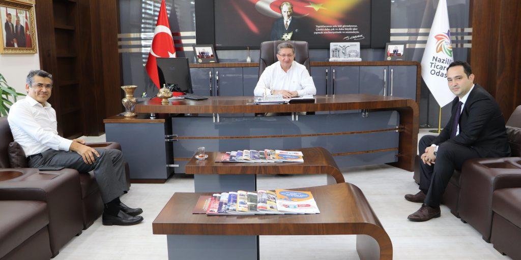 Vakıfbank Nazilli Sanayi Şubesi Yeni Müdürü Şakir Bayezıt Odamıza Ziyaret Etti.