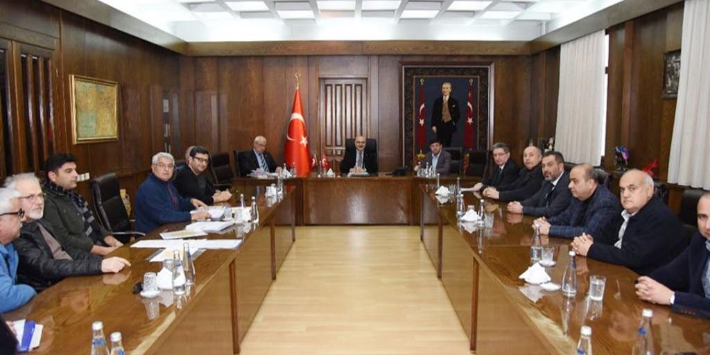 Aydın Valiliğinde yapılan OSB Müteşebbis Heyet Toplantısı