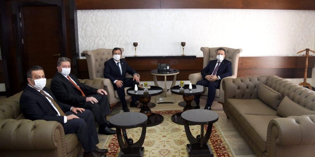 Nazilli Ticaret Odası'ndan Aydın Valisi Hüseyin Aksoy'a istişare ziyareti
