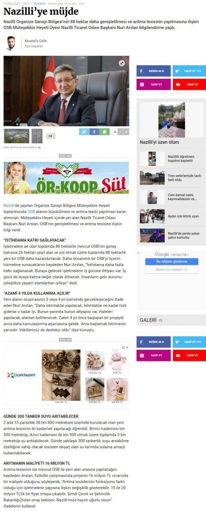 Manşet Gazetesi ( Nazilli'ye Müjde )