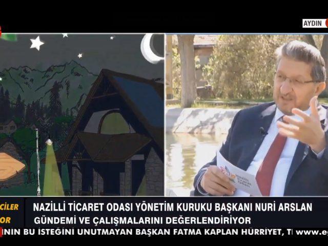 Yönetim Kurulu Başkanı Nuri Arslan Ege Tv'de Gazetecilerin Sorularını Cevaplıyor