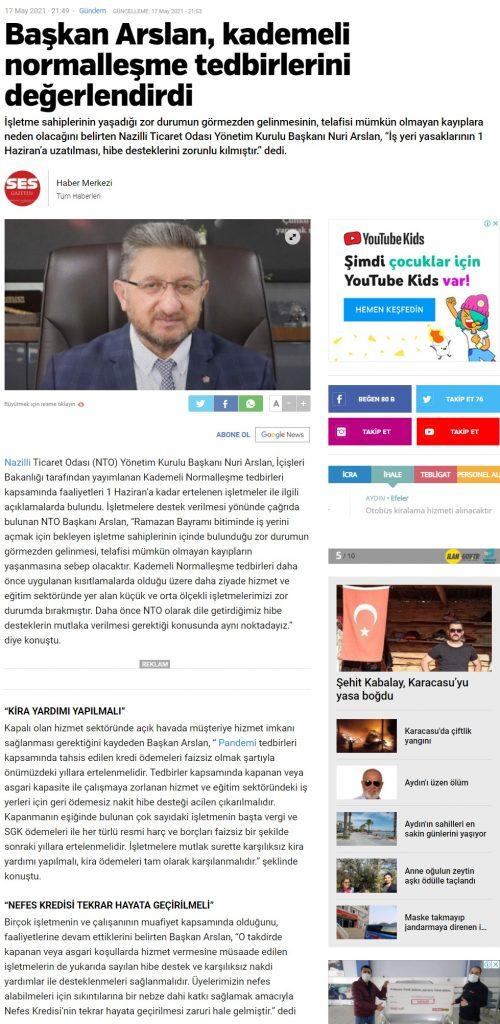 Başkan Arslan, Kademeli Normalleşme Tedbirlerini Değerlendirdi