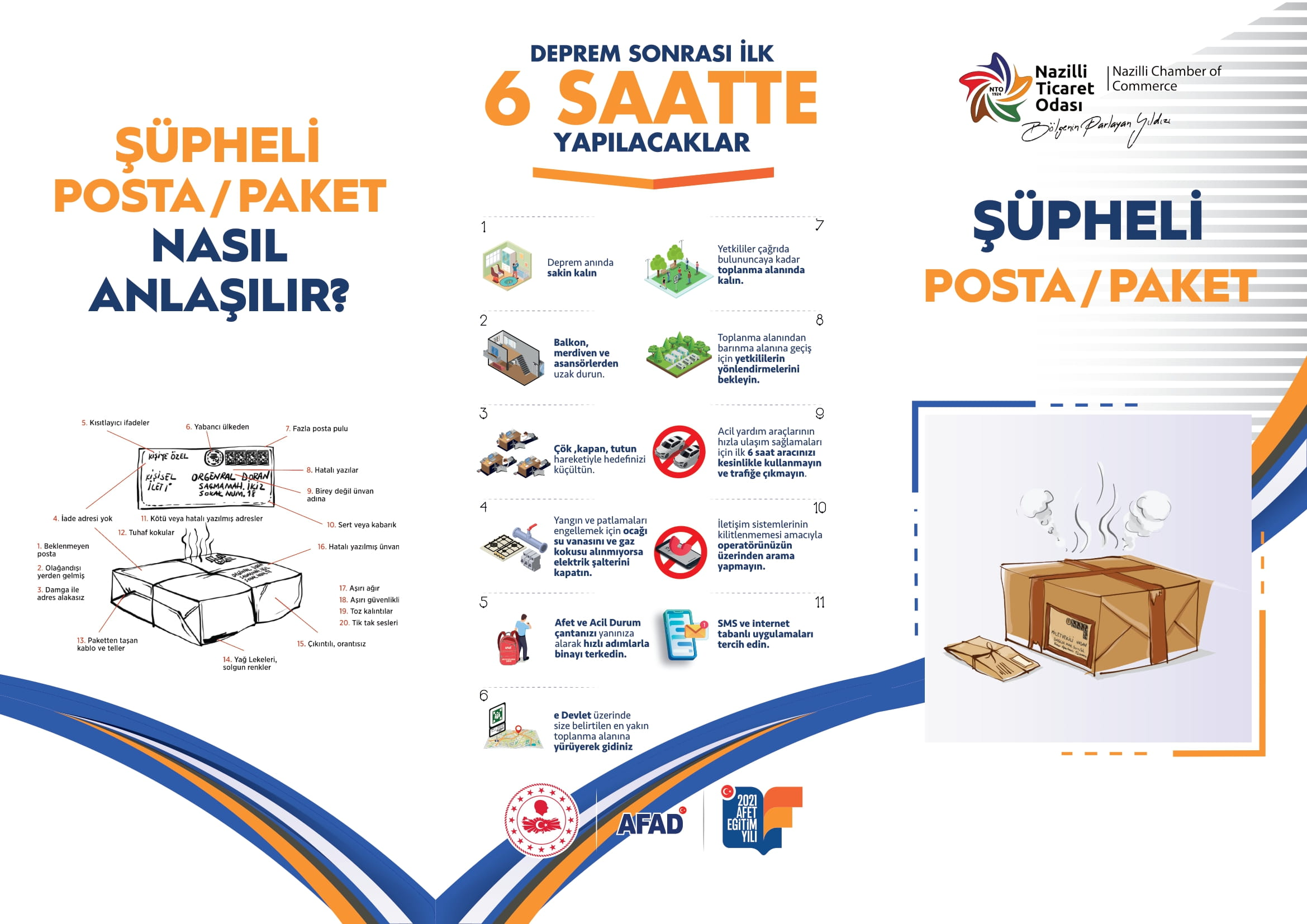AFAD – şüpheli posta ve paketler-1